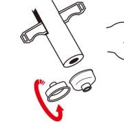 刺された箇所が小さい場合や指などの部分には、マウスピースを回転させて取り付けてご使用ください。 ポイズンリムーバーを刺された箇所に押し当て、レバーを引き上げて毒を吸い出します。必要であればこの操作を繰り返して下さい。