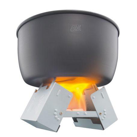 炎はイメージ合成です。 ポットは付属しません。